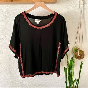 Pure DKNY embroidered top